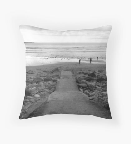 Leading to Fanore Beach Throw Pillow