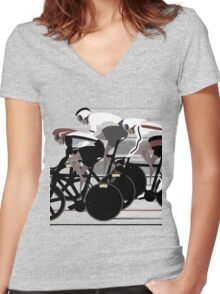 Velodrome Women's Fitted V-Neck T-Shirt