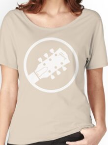 gibson  stylized headstock white Women's Relaxed Fit T-Shirt