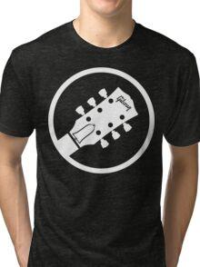 gibson  stylized headstock white Tri-blend T-Shirt