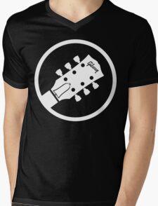 gibson  stylized headstock white Mens V-Neck T-Shirt