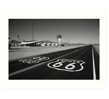 Route 66 Shield Art Print