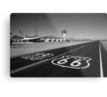 Route 66 Shield Metal Print