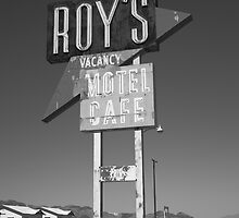 Route 66 - Roy's of Amboy, California by Frank Romeo