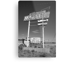 Route 66 - Bluewater Motel Metal Print