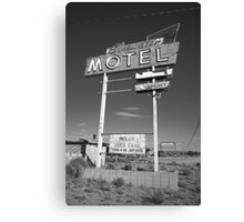 Route 66 - Bluewater Motel Canvas Print