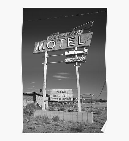 Route 66 - Bluewater Motel Poster