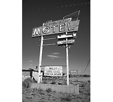 Route 66 - Bluewater Motel Photographic Print