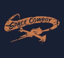 Space Cowboy - Distressed Orange T-Shirt