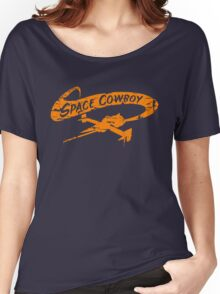 Space Cowboy - Distressed Orange Women's Relaxed Fit T-Shirt