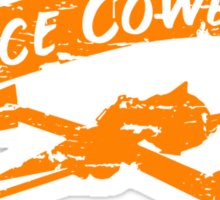 Space Cowboy - Distressed Orange Sticker