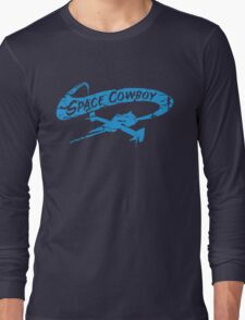 Space Cowboy - Distressed Blue Long Sleeve T-Shirt