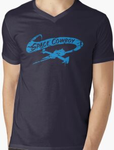 Space Cowboy - Distressed Blue Mens V-Neck T-Shirt