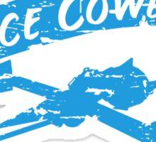 Space Cowboy - Distressed Blue Sticker