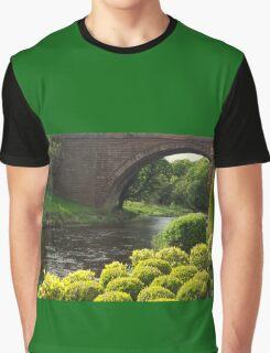 Bushes , Bridge and River Graphic T-Shirt