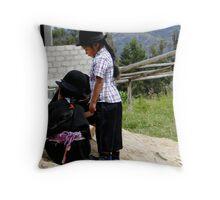 Saraguro Kids 282 Throw Pillow