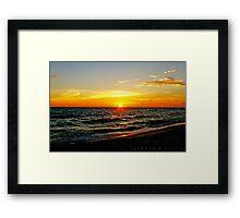 sunset view Framed Print