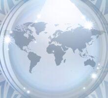 Snow globe with map Sticker