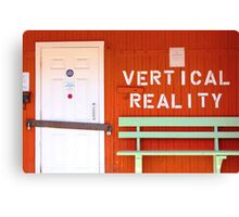 vertical reality Canvas Print