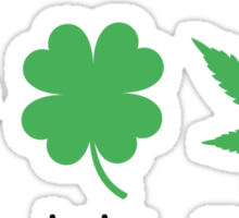 Superlucky Hemp Leaf (black font) Sticker