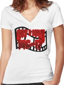 Gory B Movie Women's Fitted V-Neck T-Shirt