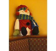 Even Snowmen Can Be Wallflowers Photographic Print