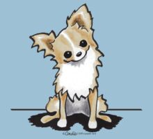 Longhaired Fawn/White Chihuahua Sit Pretty Kids Clothes
