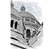 Sacre Coeur IV Pen and Ink Photographic Print