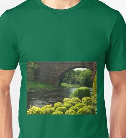 Bushes , Bridge and River Unisex T-Shirt