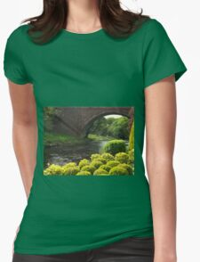 Bushes , Bridge and River Womens Fitted T-Shirt