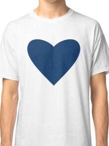 Navy Blue Heart Classic T-Shirt