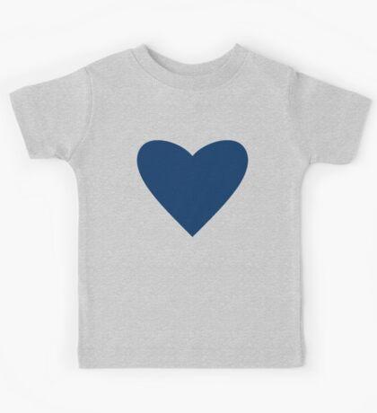Navy Blue Heart Kids Tee