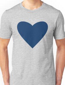 Navy Blue Heart Unisex T-Shirt