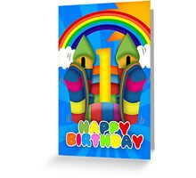 Bouncy Castle 1st Birthday Card Greeting Card