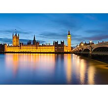 Big Ben and the Palace of Westminster, London Photographic Print