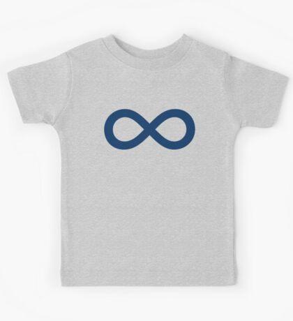 Navy Blue Infinity Kids Tee