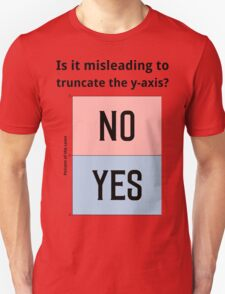 Is it misleading to truncate the y-axis? Funny Chart T-Shirt