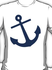 Navy Blue Anchor T-Shirt