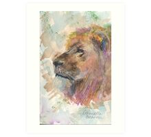 Lion Around Art Print