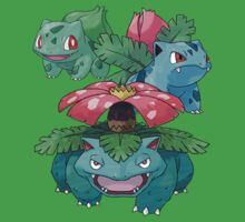 Evolutions of Bulbasaur by Stephen Dwyer