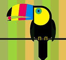 CMYK Toucan by Scott Partridge