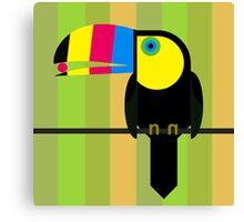 CMYK Toucan Canvas Print