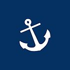 Navy Blue Anchor by Mary Nesrala