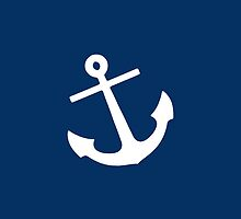 Navy Blue Anchor by M Studio Designs