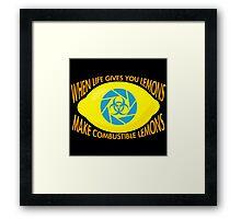 Combustible Lemons Framed Print