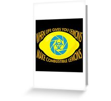 Combustible Lemons Greeting Card