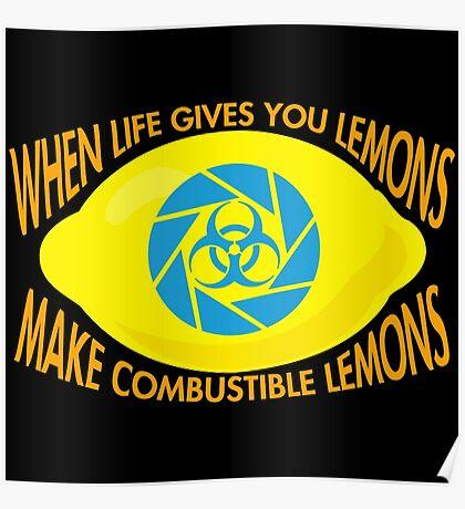 Combustible Lemons Poster