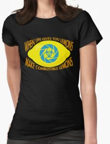 Combustible Lemons Womens Fitted T-Shirt