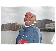 Mo Farah CBE having a laugh! Poster