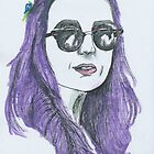 Katy Perry Purple III by HarrietHerbert